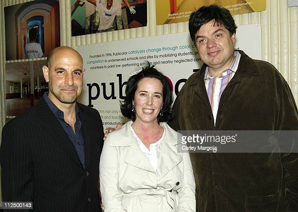 Stanley Tucci Kate Spade and Oliver Platt during 5th Annual Stir Splatter and Roll to Benefit Publicolor at Martin Luther King Jr High School in New...