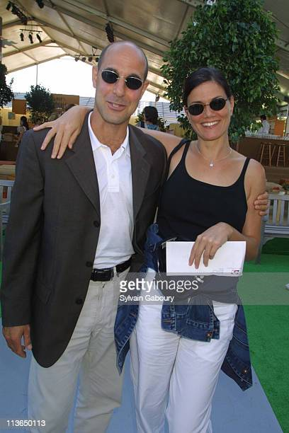 Stanley Tucci Linda Fiorentino during USTA's PreParty for the US Open's Men's Finals at USTA Tennis Center in Flushing Meadows New York United States