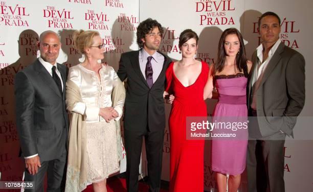 Stanley Tucci, Meryl Streep, Adrian Grenier, Anne Hathaway, Emily Blunt and Daniel Sunjata