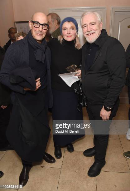 Stanley Tucci Miranda Richardson and Brian Cox attend the press night after party for Sinners at the Playground Theatre on February 26 2020 in London...
