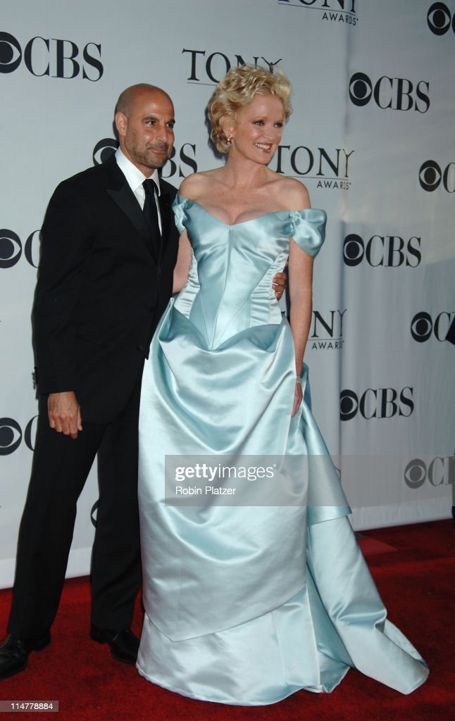 Stanley Tucci, presenter for Best Play Presentation and Christine Ebersole, presenter for Best Performance by a Featured Actor in a Musical