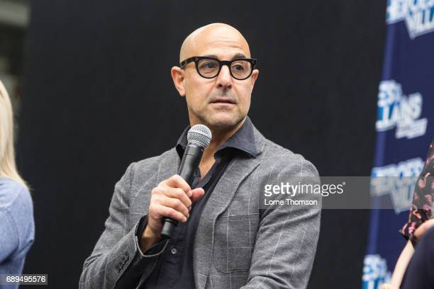 Stanley Tucci takes part in the Agent Carter Panel on day two of Heroes and Villians Convention at Olympia London on May 28 2017 in London England