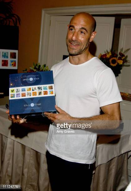 "Stanley Tucci with This Vs That during HBO ""Luxury Lounge"" at the 55th Annual Emmy Awards at The Peninsula Hotel - Magnolia Room in Beverly Hills,..."