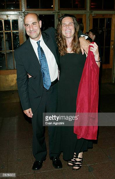 Stanley Tucci with wife Kate arriving at the Road To Perdition film premiere afterparty in The Vanderbilt Hall at Grand Central Station in New York...