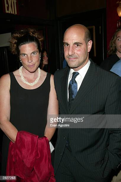 Stanley Tucci with wife Kate arriving at the Road To Perdition film premiere at The Ziegfeld Theatre in New York City July 9 2002 Photo Evan...