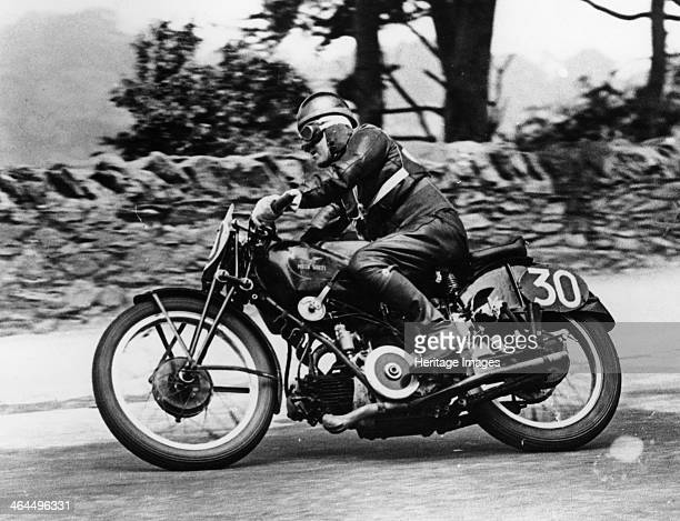 Stanley Woods on a 498cc Moto Guzzi bike Isle of Man Senior TT 1935 This was his most famous win He was expected to stop at the end of the sixth lap...