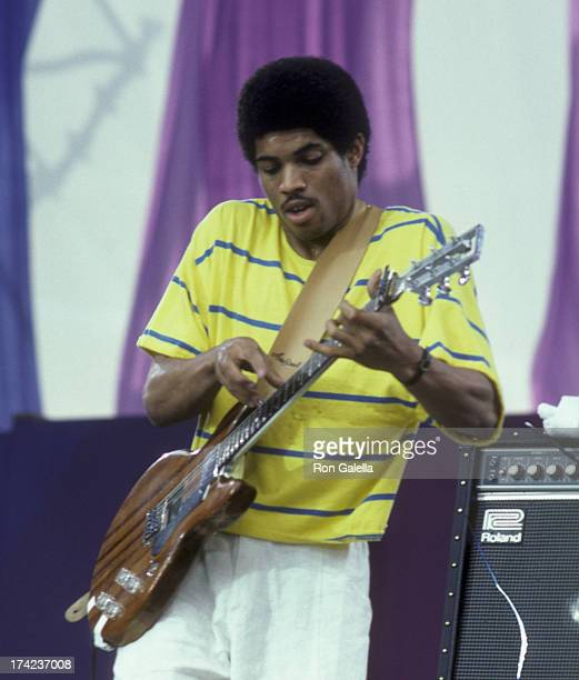 Stanley Young attends Amnesty International Benefit Concert on June 15, 1986 at Giants Stadium in East Rutherford, New Jersey.