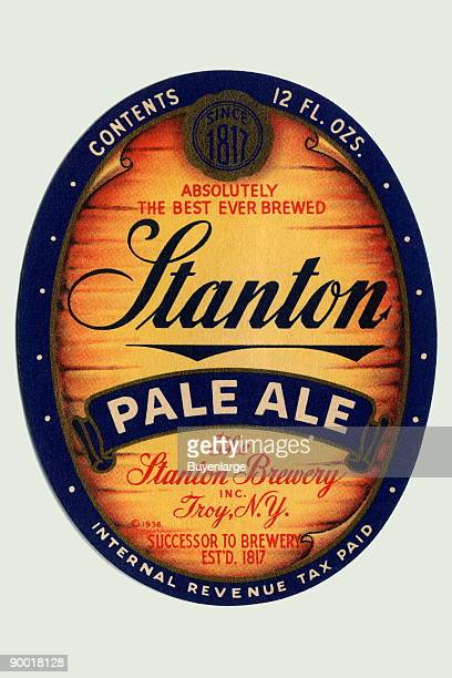 Stanton Pale Ale brewed in Troy New York bragged that it was 'Absolutley the Best Ever Brewed' This original beer label dates from 1934 not long...