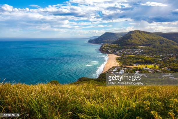stanwell tops lookout - hill stock pictures, royalty-free photos & images