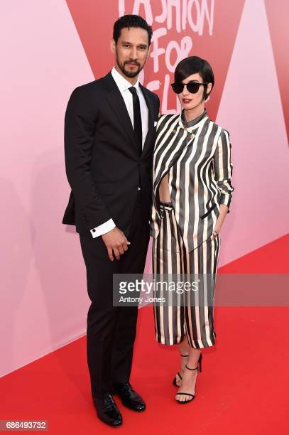 Stany Coppet and Paz Vega attend the Fashion for Relief event during the 70th annual Cannes Film Festival at Aeroport Cannes Mandelieu on May 21 2017...