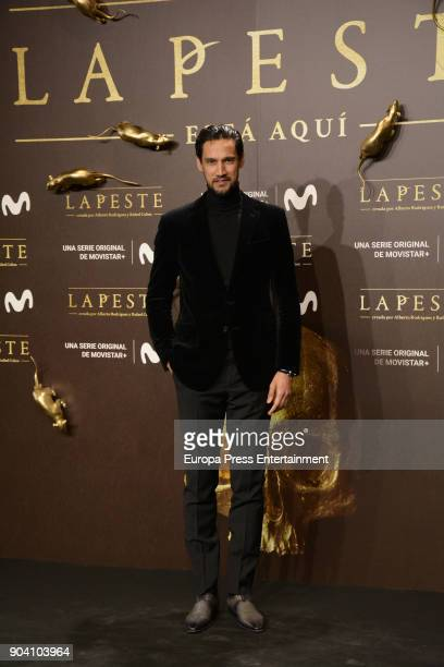 Stany Coppet attend 'La Peste' premiere at Callao Cinema on January 11 2018 in Madrid Spain