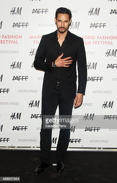 Stany Coppet attends Madrid Fashion Festival photocall at Centrocentro on November 6 2014 in Madrid Spain