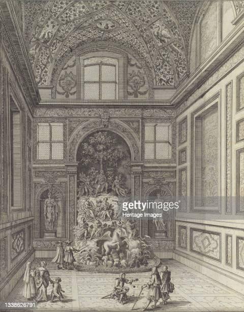 Stanza de Venti nel Teatro di Belvedere di Frascati con la Famosa Fontana del Monte Parnaso con Apolline et le Mvse che Svonano con Instrumenti...