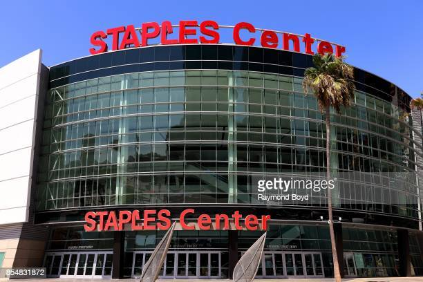 Staples Center home of the Los Angeles Lakers Los Angeles Clippers and Los Angeles Sparks basketball teams and Los Angeles Kings hockey team in Los...