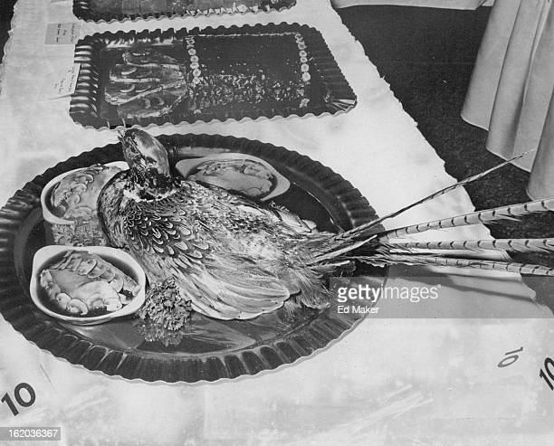 OCT 18 1976 OCT 27 1976 Stapleton Plaza Executive Chef James Kosec Submitted The Entry Faison en Plumage ou Madeira pheasant is stuffed with mashed...