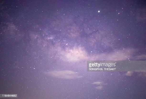 star and milky way in the sky. - stella cometa foto e immagini stock