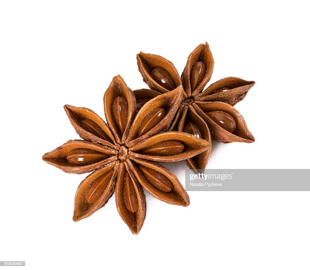 Star anise isolated on white background. : Foto de stock