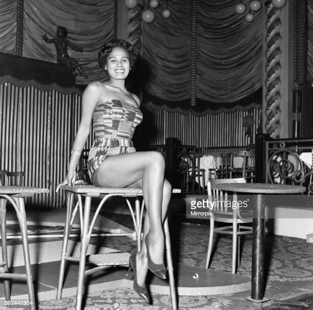 Star Annan representing Miss Ghana in the Miss World beauty ceremony held at the Lyceum in London November 1959