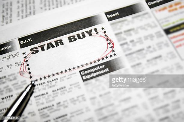 星の購入 - クラシファイド広告 ストックフォトと画像