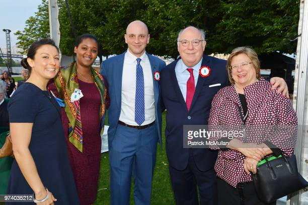 Star Calaman Abby Copelin Clark Copelin Jack Calaman and Marjorie Nesbitt attend the Franklin D Roosevelt Four Freedoms Park's gala honoring Founder...