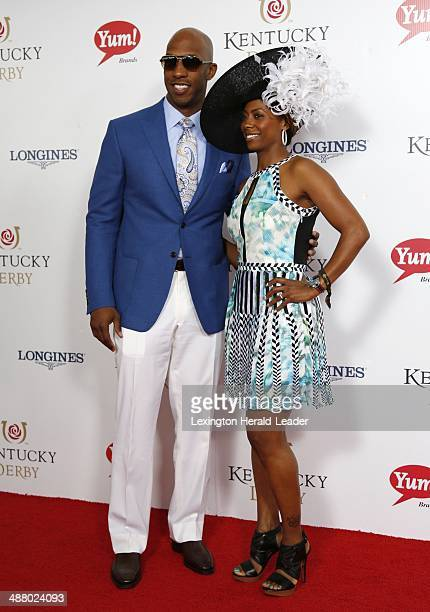 NBA star Chauncey Billups and his wife Piper appear on the red carpet before the 140th running of the Kentucky Derby at Churchill Downs in Louisville...