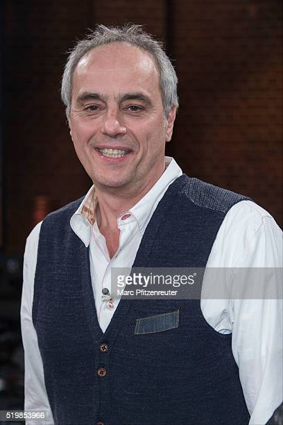 Star chef Christian Rach attends the 'Koelner Treff' TV Show at the WDR Studio on April 8 2016 in Cologne Germany