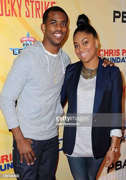 NBA star Chris Paul and wife Jada Crawley arrive at the 5th annual Chris Paul PBA AllStars Invitational hosted by LA Clippers star guard Chris Paul...