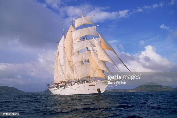 star clipper, 4-masted sailing ship - 帆船 ストックフォトと画像