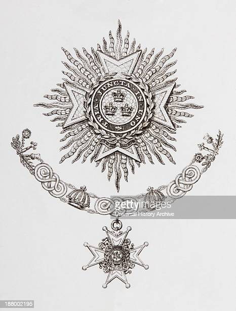 Star Collar And Badge Of A Military Knight Grand Cross Of The Order Of The Bath From The Cyclopaedia Or Universal Dictionary Of Arts Sciences And...