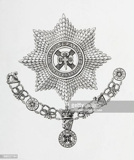Star Collar And Badge Of The Order Of St Patrick From The Cyclopaedia Or Universal Dictionary Of Arts Sciences And Literature By Abraham Rees...