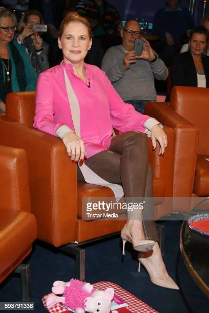 Star cook Cornelia Poletto during thr NDR Talk Show on December 15, 2017 in Hamburg, Germany.