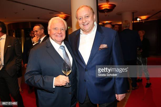 Star cook Eckart Witzigmann and Alfons Schuhbeck during the 2oth 'Busche Gala' at The Charles Hotel on October 16 2017 in Munich Germany