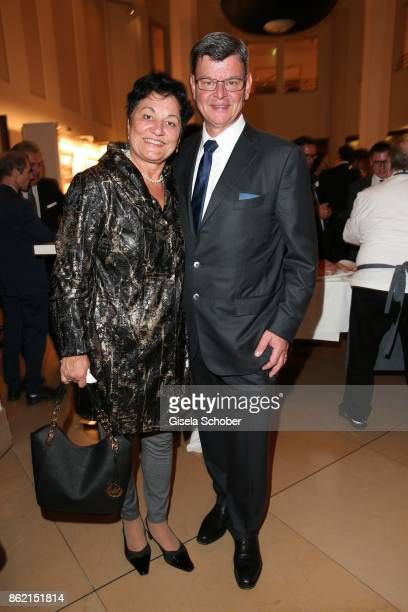 Star cook Harald Wohlfahrt and his wife Slavka Wohlfahrt during the 2oth Busche Gala at The Charles Hotel on October 16 2017 in Munich Germany