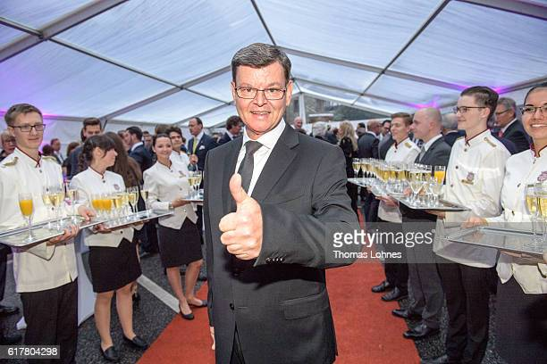 Star cook Harald Wohlfahrt attend the 'Busche Gala 2016' at Schlosshotel on October 24 2016 in Kronberg Germany The publisher 'Busche' honored with a...
