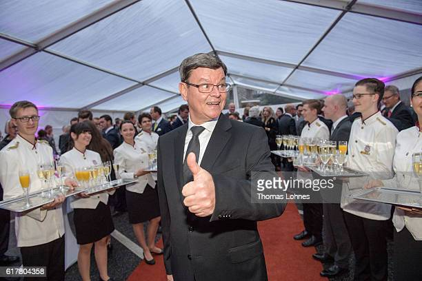 Star cook Harald Wohlfahrt attend the 'Busche Gala 2016' at Schlosshotel on October 24, 2016 in Kronberg, Germany. The publisher 'Busche' honored...