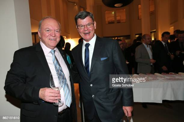 Star cook Heinz Winkler and Harald Wohlfahrt during the 2oth Busche Gala at The Charles Hotel on October 16 2017 in Munich Germany