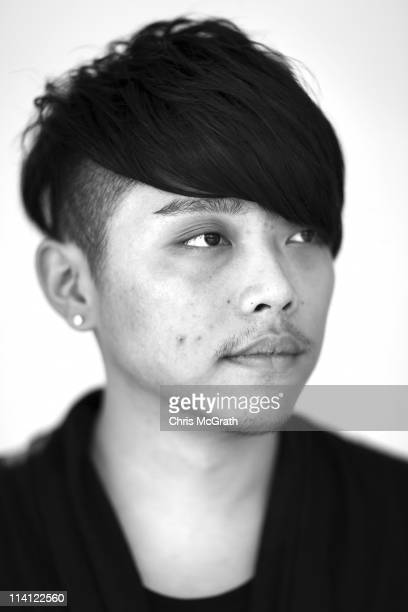 Star Creation finalist Tsai Ming Hung of Singapore poses for a portrait during the AFF Star Creation Pre-Judging as part of the Audi Fashion Festival...