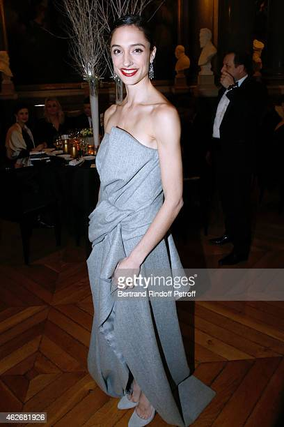 Star Dancer and Muse of Piaget Dorothee Gilbert attends the David Khayat Association 'AVEC' Gala Dinner Held at Versailles Castle on February 2 2015...