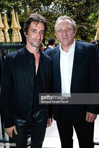 Star Dancer Benjamin Pech and CEO Kering Francois Henri Pinault attend the 'Qeelin' high Jewellery Exhibition opening Cocktail 'Mogoaku in Paris' at...