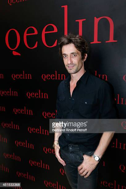 Star Dancer Benjamin Pech attends the 'Qeelin' high Jewellery Exhibition opening Cocktail 'Mogoaku in Paris' at Jardin du Palais Royal on June 30...