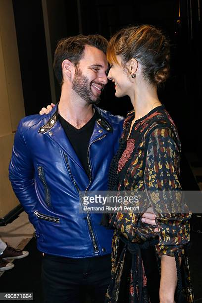 Star Dancer Dorothee Gilbert and her husband James Bort attend the Lanvin show as part of the Paris Fashion Week Womenswear Spring/Summer 2016 on...