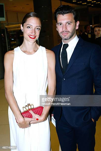 Star Dancer Dorothee Gilbert and her husband James Bort attend the AROP Charity Gala Held at Opera Bastille on May 21 2014 in Paris France