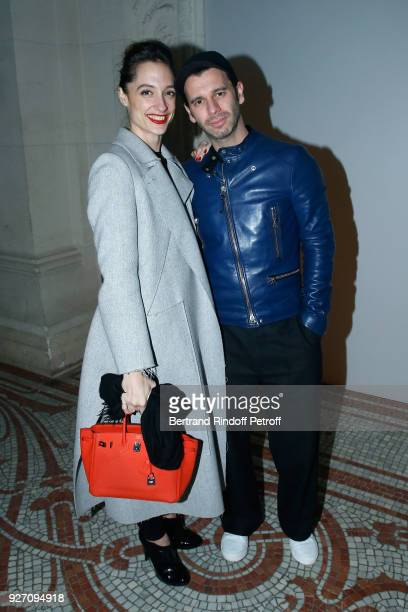 Star Dancer Dorothee Gilbert and her husband James Bort attend the Poiret show as part of the Paris Fashion Week Womenswear Fall/Winter 2018/2019 on...