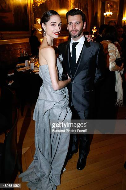 Star Dancer Dorothee Gilbert and James Bort attend the David Khayat Association 'AVEC' Gala Dinner Held at Versailles Castle on February 2 2015 in...