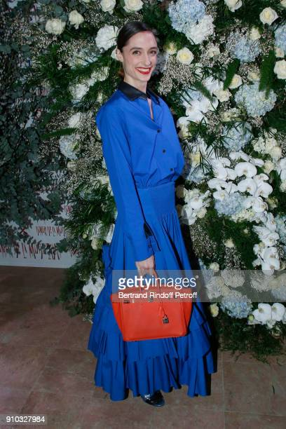 Star Dancer Dorothee Gilbert attends the 16th Sidaction as part of Paris Fashion Week on January 25 2018 in Paris France