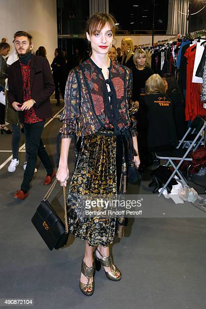 Star Dancer Dorothee Gilbert attends the Lanvin show as part of the Paris Fashion Week Womenswear Spring/Summer 2016 on October 1 2015 in Paris France
