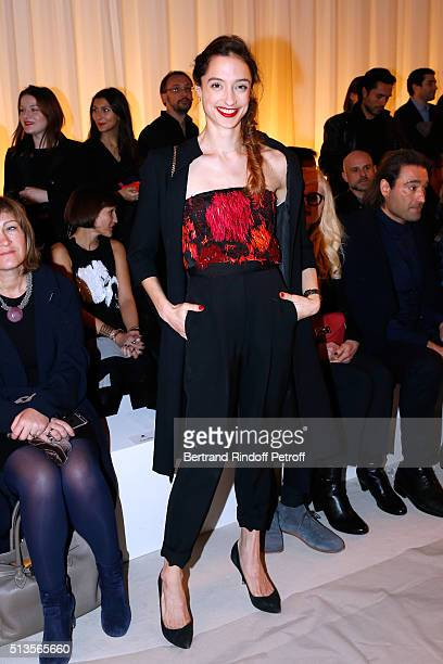 Star Dancer Dorothee Gilbert attends the Lanvin show as part of the Paris Fashion Week Womenswear Fall/Winter 2016/2017 on March 3 2016 in Paris...