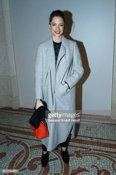 Star Dancer Dorothee Gilbert attends the Poiret show as part of the Paris Fashion Week Womenswear Fall/Winter 2018/2019 on March 4 2018 in Paris...