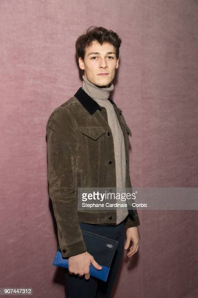Star Dancer Hugo Marchand attends the Berluti Menswear Fall/Winter 20182019 show as part of Paris Fashion Wee January 19 2018 in Paris France