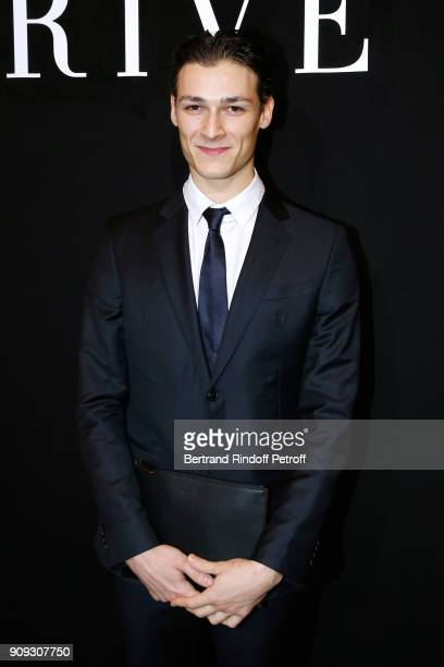 Star Dancer Hugo Marchand attends the Giorgio Armani Prive Haute Couture Spring Summer 2018 show as part of Paris Fashion Week on January 23 2018 in...